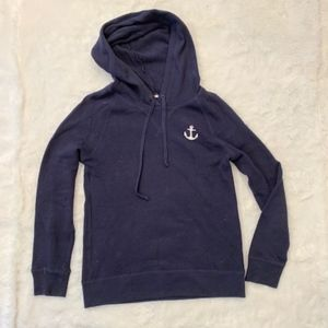 J. Crew Navy Anchor Sweater Hoodie